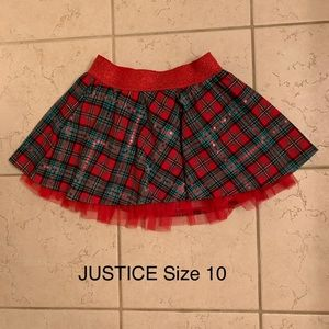 JUSTICE Holiday Skirt (Size 10)